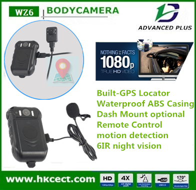 Infrared Night Vision HD 1080p Police Body Worn Video Camera Security 6 IR Cam
