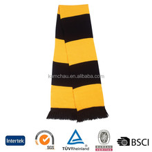 China OEM bulk sale cotton stain custom embroidered fan mini banner supporter scarves soccer sports scarf