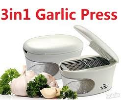 Sharper Image The Sharper Image® 3-in-1 Garlic Press (Slice,Dice,Store All-In-One)