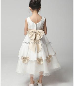 Full Length Ball Gown Flower Dresses For 7 Year Olds