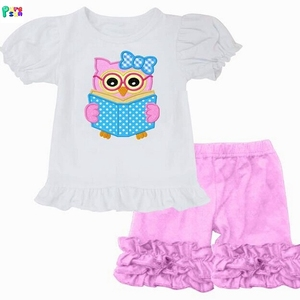 2018 baby clothes girls summer clothing set back to school wholesale children clothing set