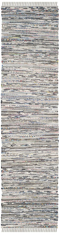 """Safavieh Rag Rug Collection RAR121A Hand Woven Grey Cotton Area Rug (2'3"""" x 5')"""