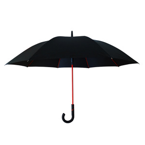 Golf umbrella long umbrella red umbrella stand hidden spring under the nest 25in