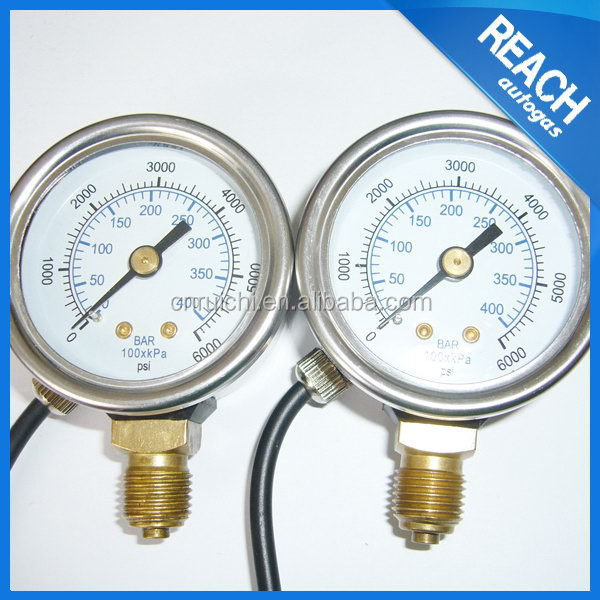 Super quality hot-sale tire inflator pressure gauge