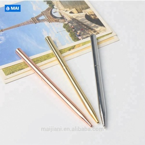 Factory price customized high end thin metal brass pen