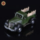 handmade antique Green pickup truck model metal cars for decor