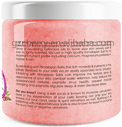 Private Label Containing Sweet Almond Oil & Lychee Oil Himalayan Body Scrub  - Buy Body Scrub,Himalayan Body Scrub,Pure Himalayan Body Scrub Product on