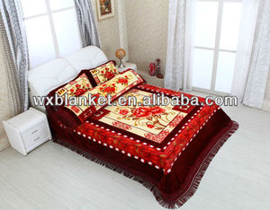 100% polyester mink style bed sheet set