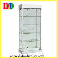 living room glass showcase design