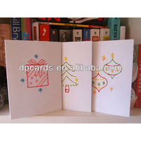 High quality embroidery Christmas cards