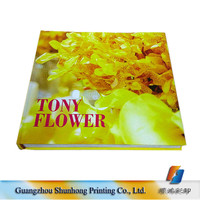 Wholesale Very Cheap Flowers Paper Hard Cover Book Printing Custom Fashion Design Catalog