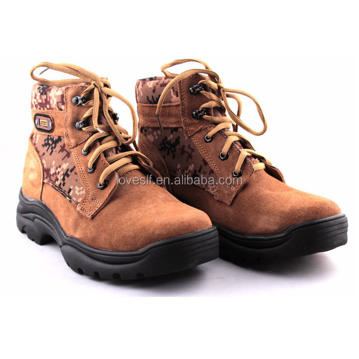 Hot Nature Waterproof Genuine Leather army shoes Tactical shoes