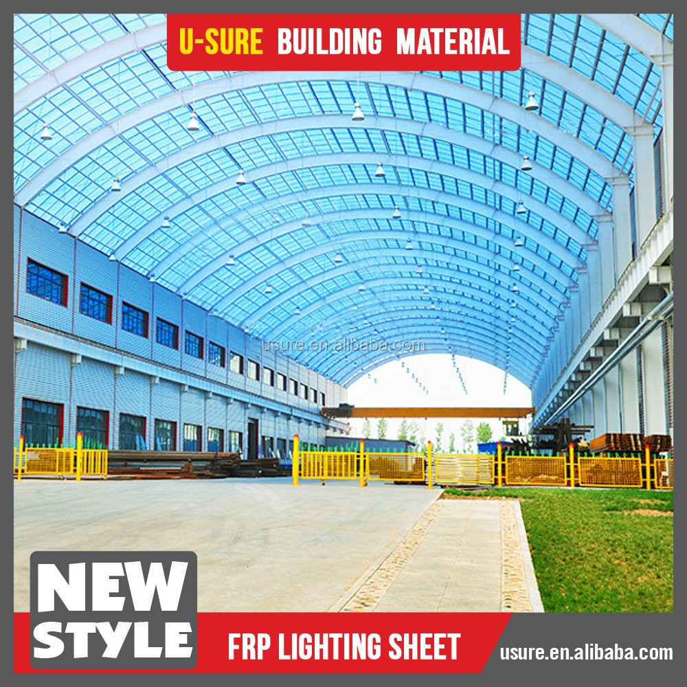 new technology 2017 fiber glass FRP transparent roof tile