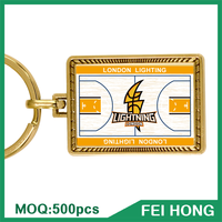 China Supplier best promotion gift logo printing basketball keychain