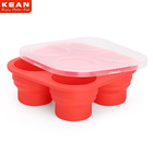 BPA Free Eco-friendly Collapsible Silicone Baby Food Storage Container With Dustproof Lid