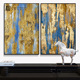 Modern design canvas oil painting for office reception decor