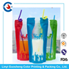 Flexible Beverage Packaging stand up pouch with zipper