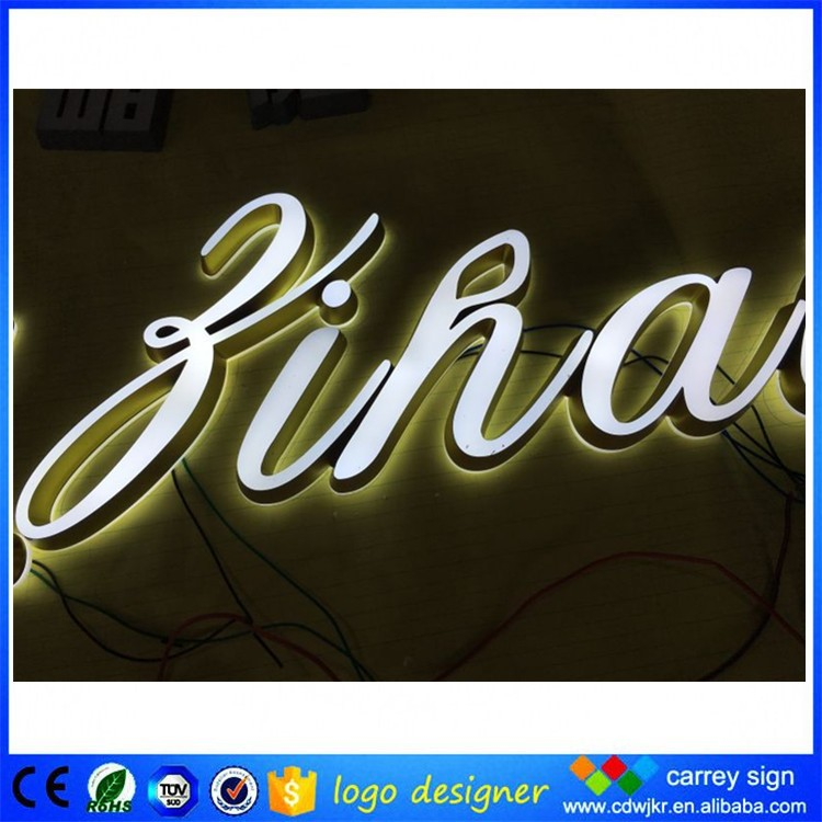 Sample of advertisement product used led signs indoor channel letter