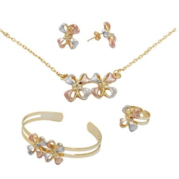 14k Gold Plated Kids Jewelry Sets Gold Fashion Jewelry Set Baby