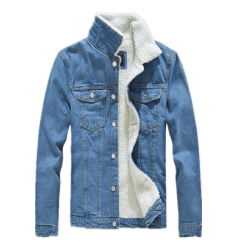 High Quality Custom Oversized Fleece Lined <strong>Mens</strong> Plain Denim <strong>Winter</strong> Jeans <strong>Jacket</strong>