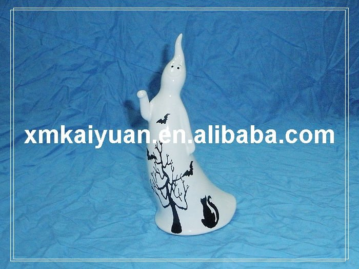Halloween ceramic ghost decoration gift