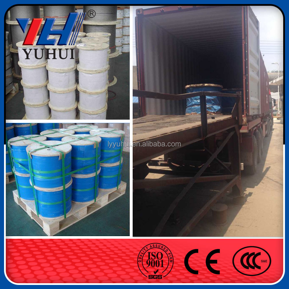 6x36WS+IWR Linear Contact Lay Steel Wire Rope
