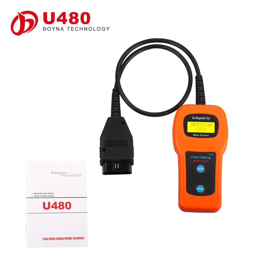 2015 Hot Selling Low Price U480 Can OBD II Scanner U480 OBD2 CAN BUS Engine Code Reader