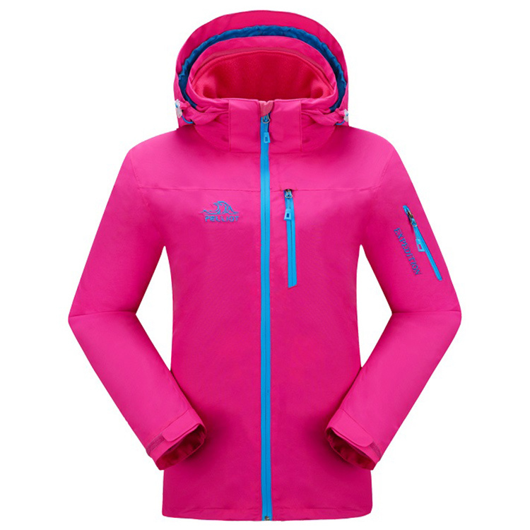 Woman outdoor sport customized printing logo waterproof polyester jacket
