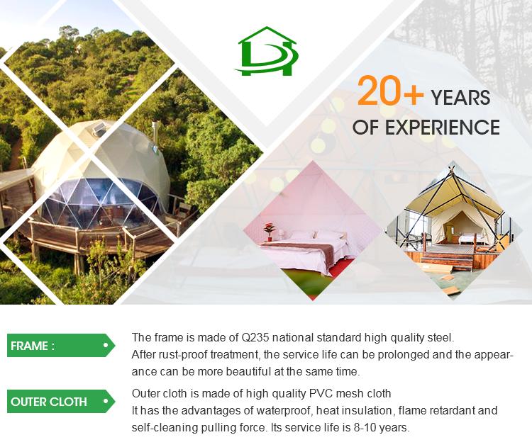Luxus iglu glamping resort geodätischen kuppel zelte