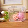 Customized Small Square Clear Plastic Acrylic Chocolate Box Package Storage Box