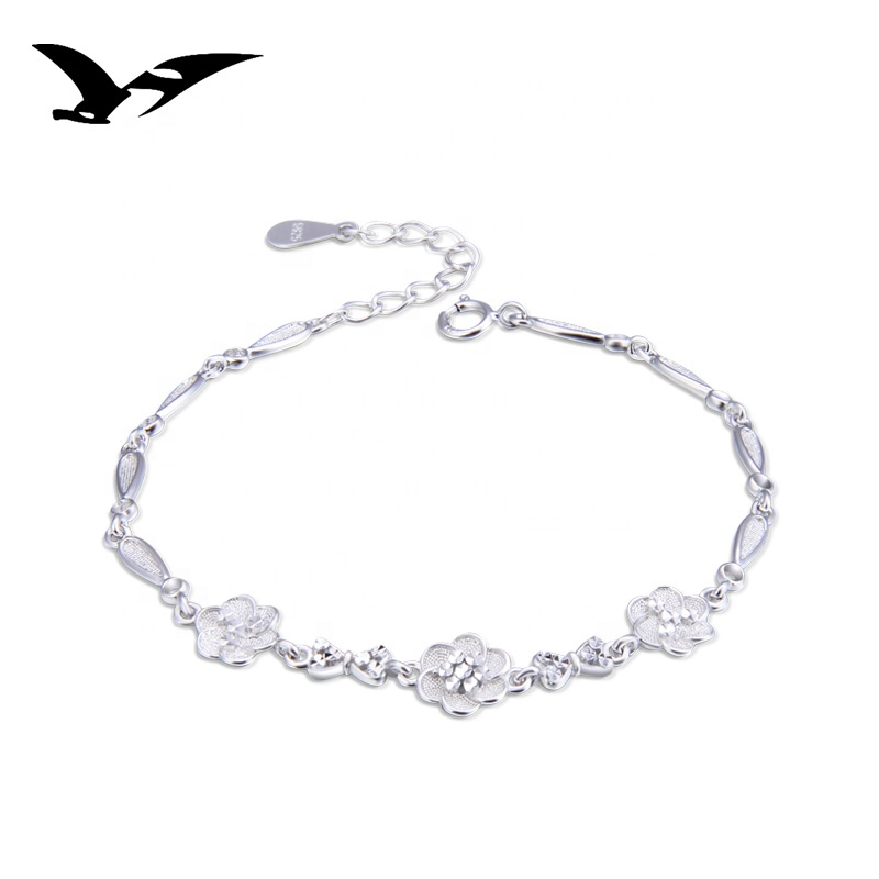 925 sterling silver bracelets 001789 фото