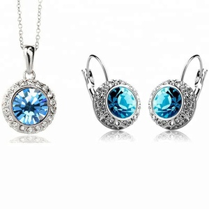crystal cheap necklace and earring sets, fancy necklace sets