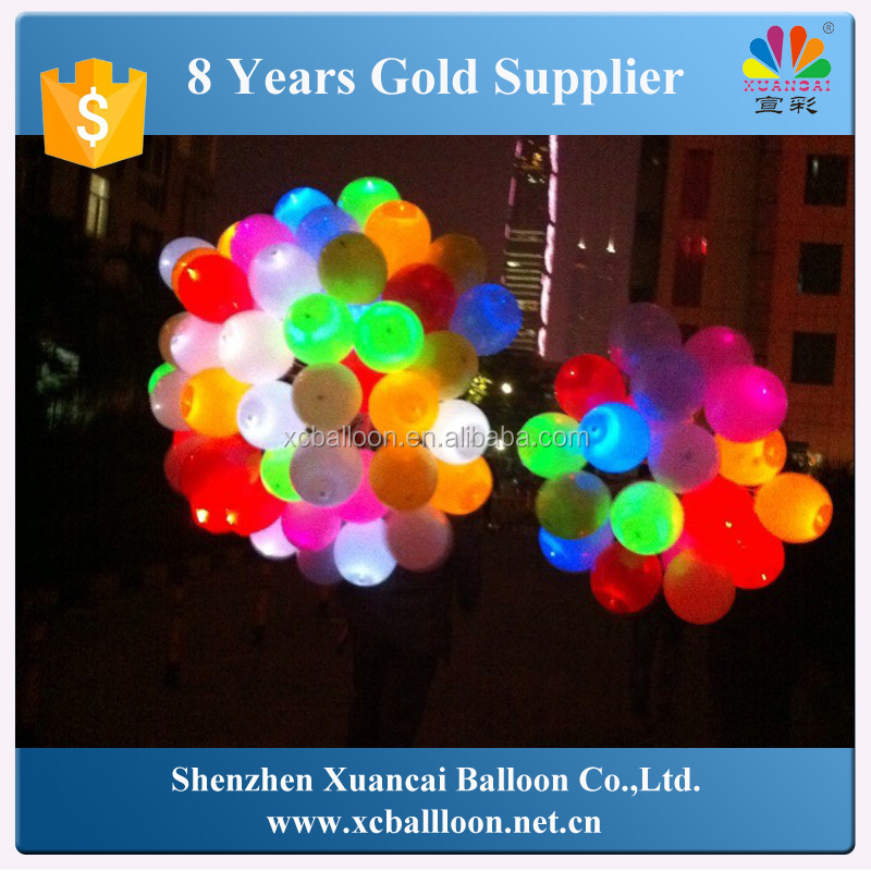 Glowing In The Dark Wedding Decoration High Quality Ballon Led Flashing Baloon With Flashing Led Balloons