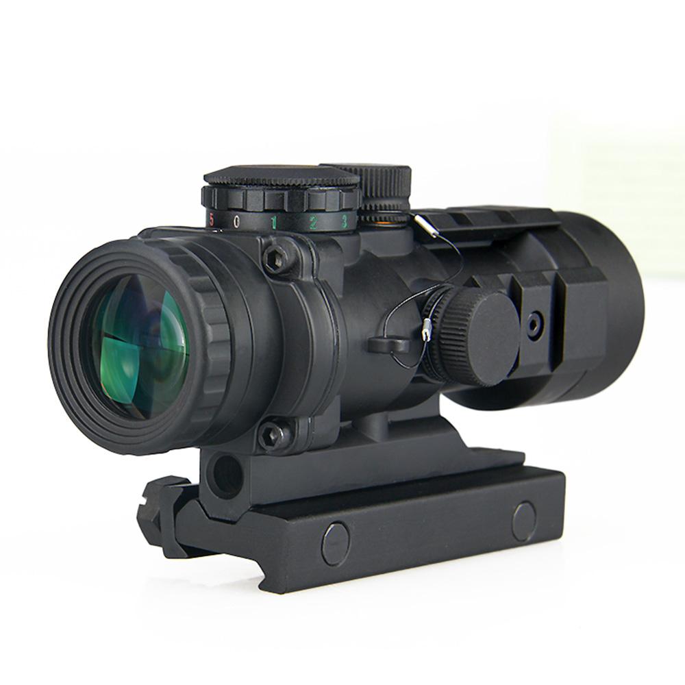 Weiß Beleuchtet Tactical Scope 3x Prisma gewehr anblick mit Ballistischen CQ Absehen Zielfernrohr HK1-0309