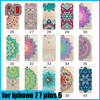 mandala 3d printing soft tpu case back cover for iphone 7 7 plus 6 5