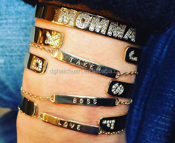 Hot Make Your Own Name Stainless Steel Friendship Diy Bracelet