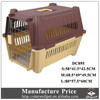 Low MOQ large sized plastic handle custom dog cage with wheels