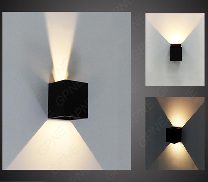 ip65 cube einstellbar aufbau im freien gef hrte lightig led outdoor wandleuchte up down led. Black Bedroom Furniture Sets. Home Design Ideas