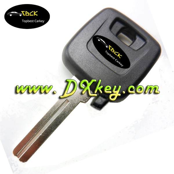 High quality for Volvo transponder ignition key cover with logo with transponder chip plug