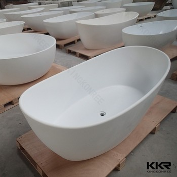 High Quality Egg Shaped Bathtub 55 Inch Freestanding Tub