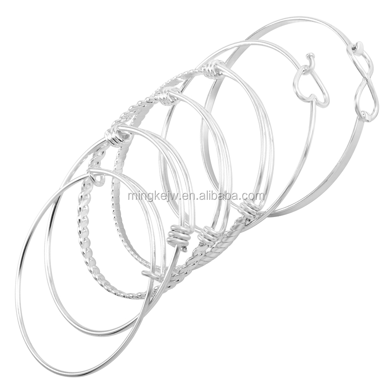 IJB0446 Women accessories jewelry Infinity Love Expandable wire bracelet bangles