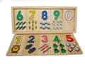 Small Montessori Game Math Teaching Self Correcting Number Puzzles Matching Plate Calculation Mathematical Educational Toys