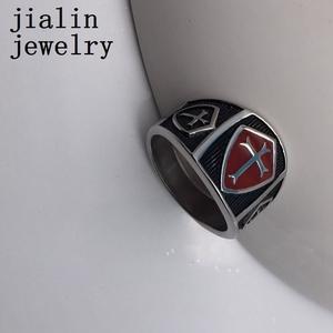 Custom mens magnetic cross christian rings jewelry