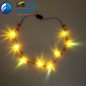 2018 new products flashing LED necklace light up bulb led party necklace