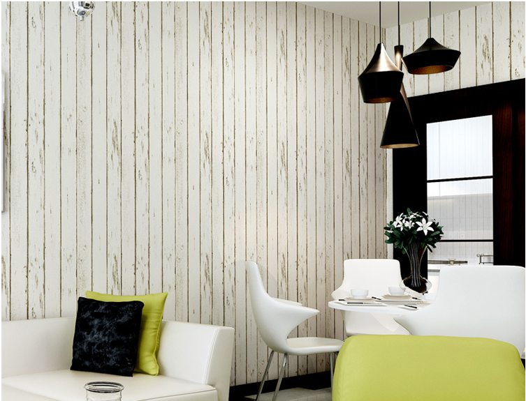 Marvelous Planks Pattern Minimalist Modern White Wallpaper