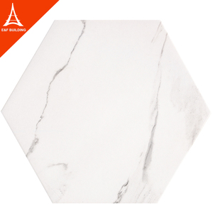 Carrara white hexagon honed tile kitchen bathroom porcelain floor tile