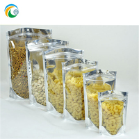 FDA food grade pasta bags packaging with front clear window and zipper