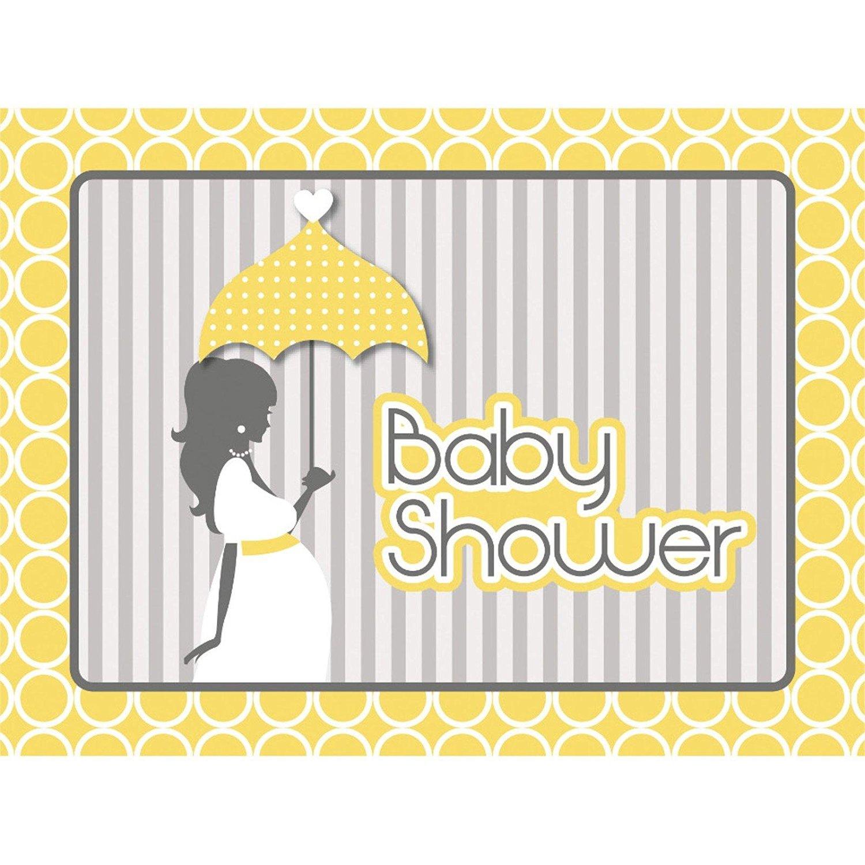 Mod Baby Shower Invitation Postcard (8) Invites Baby Shower