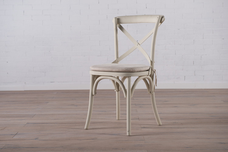 Cover Cross Back Oak Chair Dining Chair, Wedding Cross Back Chair, Rattan Wood Dining Chair