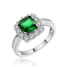 Kenyon R188 avon jewelry with emerald CZ stone ring for wholesale